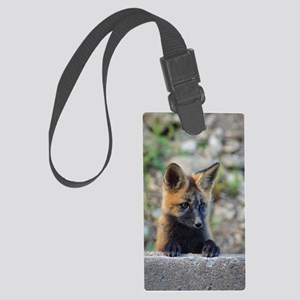 Curious Fox! Large Luggage Tag