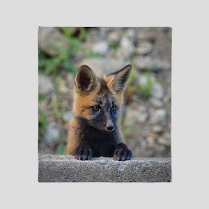 Curious Fox! Throw Blanket