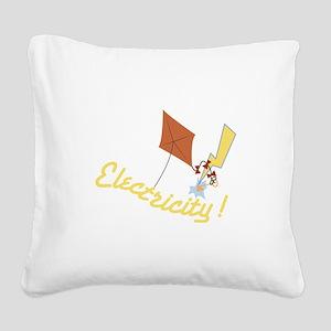 Electricity Square Canvas Pillow