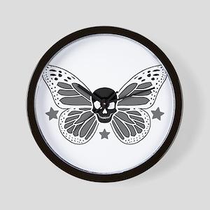 Butterfly Skull Wall Clock