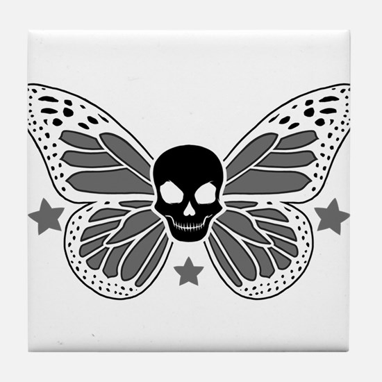 Butterfly Skull Tile Coaster