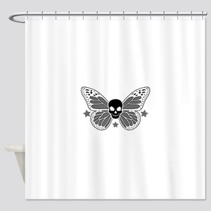 Butterfly Skull Shower Curtain