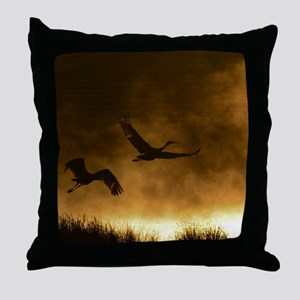 Rising Cranes  Throw Pillow