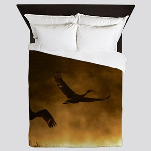 Rising Cranes  Queen Duvet