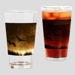 Rising Cranes  Drinking Glass