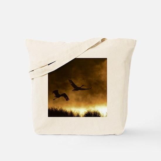 Rising Cranes  Tote Bag