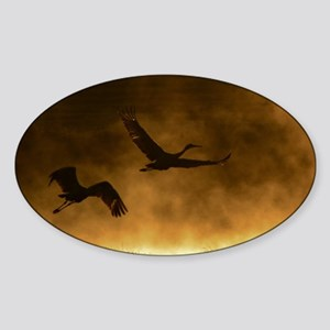 Rising Cranes  Sticker (Oval)