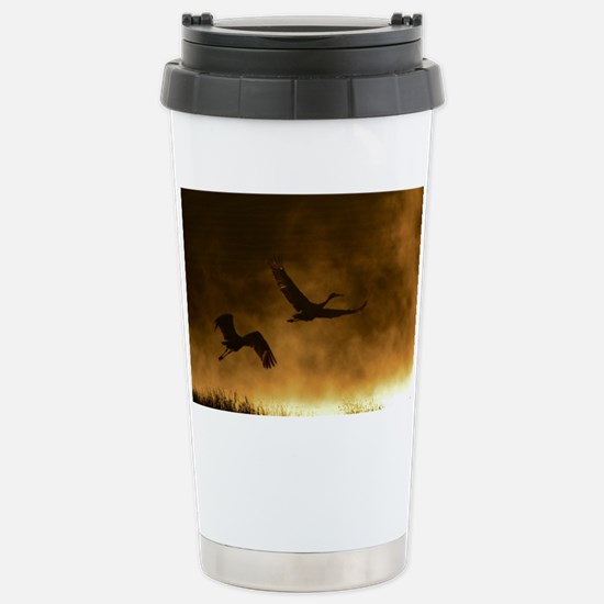 Rising Cranes  Stainless Steel Travel Mug