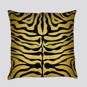 SKIN2 BLACK MARBLE & GOLD BRUSHED Everyday Pillow