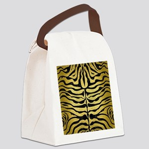 SKIN2 BLACK MARBLE & GOLD BRUSHED Canvas Lunch Bag
