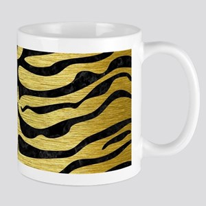 SKIN2 BLACK MARBLE & GOLD BRUSHE 11 oz Ceramic Mug