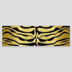 SKIN2 BLACK MARBLE & GOLD BRUSHED Sticker (Bumper)