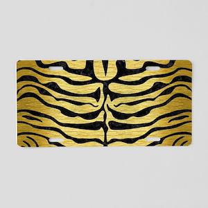 SKIN2 BLACK MARBLE & GOLD B Aluminum License Plate