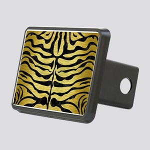SKIN2 BLACK MARBLE & GOLD Rectangular Hitch Cover