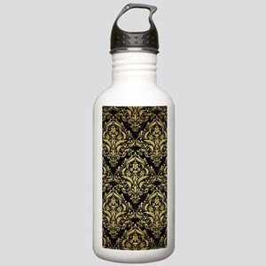 DAMASK1 BLACK MARBLE & Stainless Water Bottle 1.0L