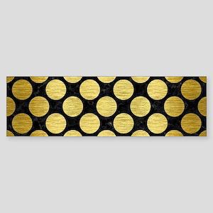 CIRCLES2 BLACK MARBLE & GOLD BRUS Sticker (Bumper)