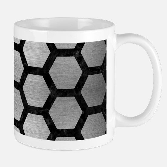 HEXAGON2 BLACK MARBLE & SILVER B Mug