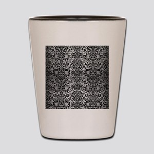 DAMASK2 BLACK MARBLE & SILVER BRUSHED M Shot Glass