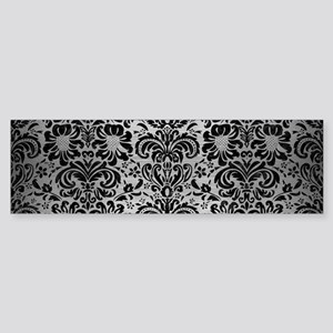 DAMASK2 BLACK MARBLE & SILVER BRU Sticker (Bumper)