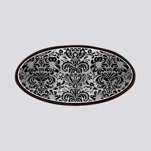DAMASK2 BLACK MARBLE & SILVER BRUSHED METAL Patch