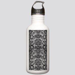 DAMASK2 BLACK MARBLE & Stainless Water Bottle 1.0L