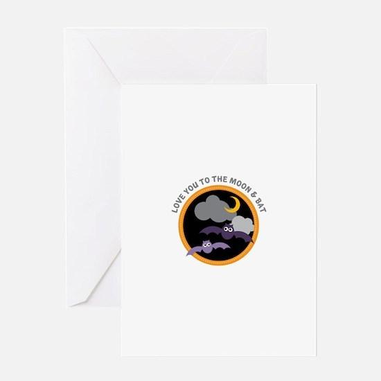 Moon & Bat Greeting Cards