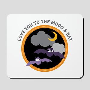 Moon & Bat Mousepad