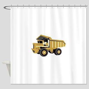 Dump Truck Shower Curtain
