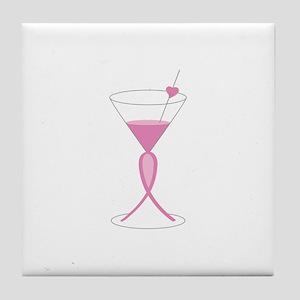Awareness Ribbon Drink Tile Coaster