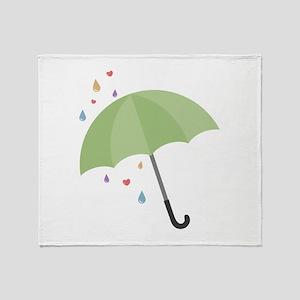 Rain Umbrella Throw Blanket