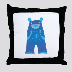 Overalls Throw Pillow