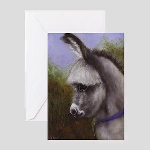Mini Donkey Paintin Greeting Cards