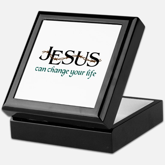 Jesus Can Change Life Keepsake Box