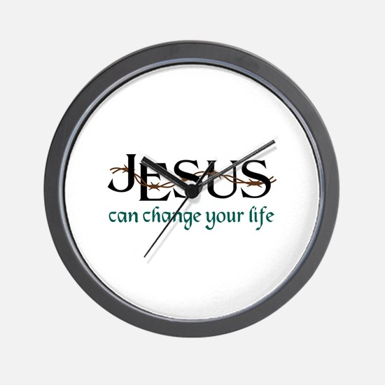 Jesus Can Change Life Wall Clock