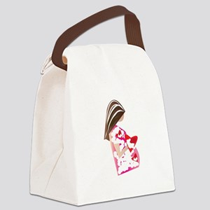 Expectant Mom Canvas Lunch Bag