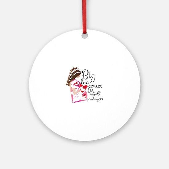 Big Love Round Ornament