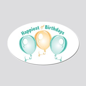 Happiest Of Birthdays Wall Decal