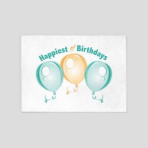 Happiest Of Birthdays 5'x7'Area Rug