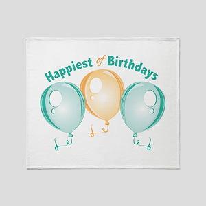 Happiest Of Birthdays Throw Blanket