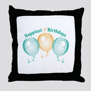 Happiest Of Birthdays Throw Pillow