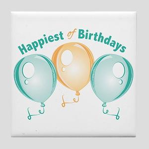 Happiest Of Birthdays Tile Coaster
