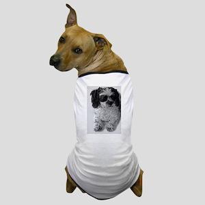 Black Gray White Shih Tzu Poodle Mix Dog T-Shirt