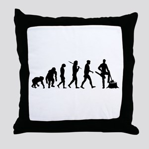 Lumberjack Logger Throw Pillow