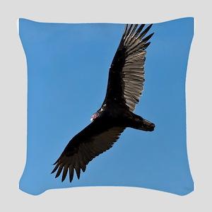 Turkey vulture Woven Throw Pillow