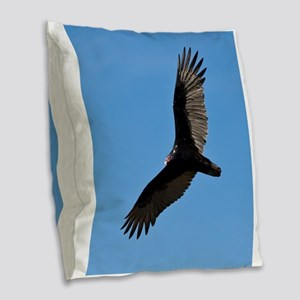 Turkey vulture Burlap Throw Pillow