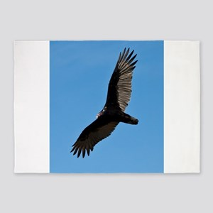 Turkey vulture 5'x7'Area Rug