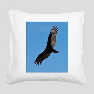 Turkey vulture Square Canvas Pillow
