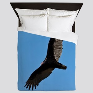 Turkey vulture Queen Duvet