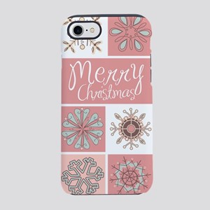 Merry Christmas in Pastel Pi iPhone 8/7 Tough Case