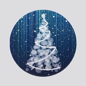 SPARKLING TREE Round Ornament